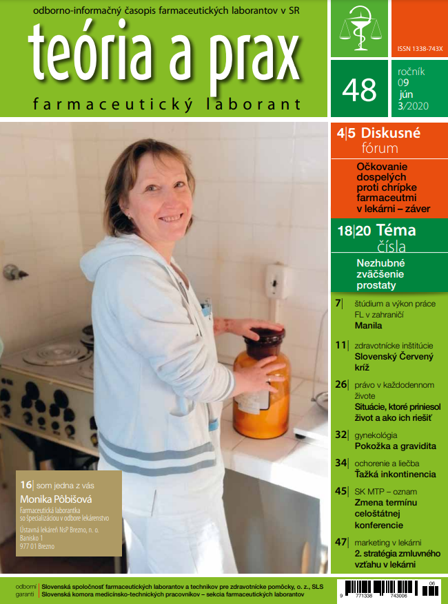 Teória a prax farmaceutický laborant 48/2020
